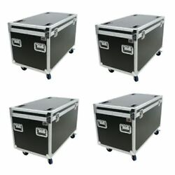 4 Transport Utility Ata Flight Road Case W/wheels And Hard Rubber Lined By Osp