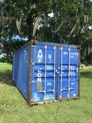 Used 20and039 Dry Van Steel Storage Container Shipping Cargo Conex Seabox Norfolk