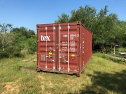 Used 20and039 Dry Van Steel Storage Container Shipping Cargo Conex Seabox Seattle