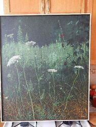 Gerald C. Moore - Hollyhock and Lace    1973 Orginal Polymer 36 x 30 inch