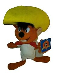 Vintage 1997 Looney Tunes Ace Plush Speedy Gonzales Stuffed Animal Collectible
