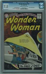 Wonder Woman 105 Cgc 7.5 Scarce 5th Best Cgccopy Cream To Off-white Pages 1959