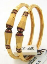 Classy Dubai Handmade Bangles Bracelet In 916 Solid Stamped 22carat Yellow Gold