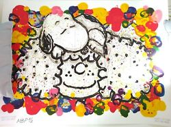 Tom Everhart Lithograph Snoopy Why I Like Big Hair Preproduction Sample Proof