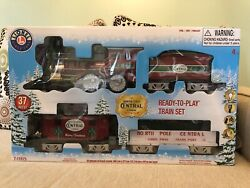Lionel North Pole Central Lines - 37 Piece Ready To Play Train Set
