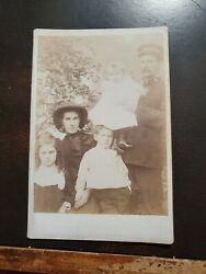 Vintage 1880s Family Cabinet Photo Man In Salvation Army Uniform