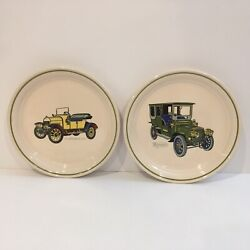 Brendan Antique Car Plates Lot Of 2 Erin Stone Made In Arklow Ireland
