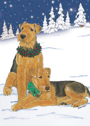 Airedale Terrier Christmas Cards Set of 10 cards amp; 10 envelopes
