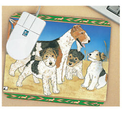 Fox Terrier Wire Mouse Pad