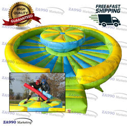 16x4.9ft Inflatable Get Him Off Gladiator Jousting Sticks Battle With Air Blower