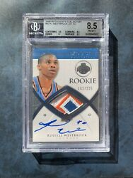 Russell Westbrook 2008-09 Exquisites Rookie Best Patch Auto RC /225 BGS8.5/10