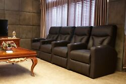 Fusion Collection Lagoon-1011 Home Theater Recliners - Straight Set Of 4