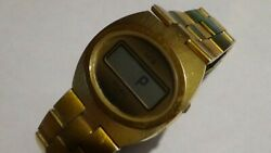 1970and039s Mens Gt Gruen Swiss Lcq Led Watch Will Fit An 8 Wrist For Parts