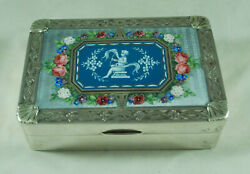 Art Deco Solid Silver Enamelled Jewellery Box S B And S Chester 1926 458g Abazx009