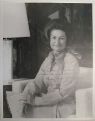 An Over-sized Lady Bird Johnson Signed Black-and-white Photograph C. 1981