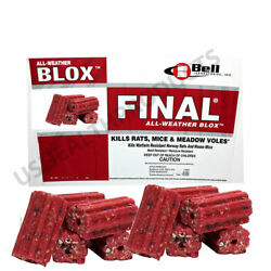 Bell Final Blox Professional Mouse Rat Poison All Weather Trap Rodenticide 10pcs