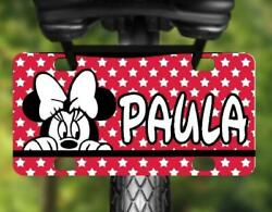 MINNIE MOUSE MINI LICENSE PLATE Name Personalized for Kids Bikes Wagon Walls ATV $13.95