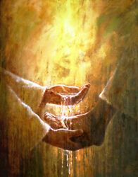 Yongsung Kim Foot Washing Canvas Jesus Christ Washing A Personand039s Feet With Water