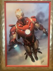 Iron Man Giclee Numbered 3/4 Stan Lee S/n Deluxe Edition Beautiful With Frame