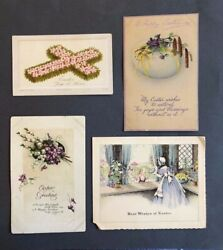 Vintage Lot Of 4 Post Card Early 1910-15 Easter