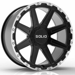 20 Solid Atomic Machined 20x12 Rims Wheels Fits Lifted Chevy Silverado 2500 Hd