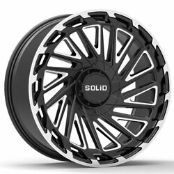 20 Solid Blaze Gloss Black 20x12 Forged Concave Wheels Rims Fits Hummer H2