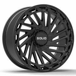 20 Solid Blaze Black 20x9.5 Forged Concave Wheels Rims Fits Jeep Compass