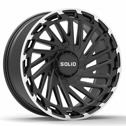 20 Solid Blaze Machined 20x12 Forged Concave Wheels Rims Fits Dodge Durango