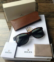 Brand New Exclusive ROLEX Vintage Gradient Green Brown Sunglasses