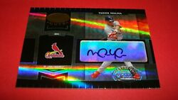 2004 Donruss Leaf Certified Cuts 🌟yadier Molina🌟 Auto Rookie Rc And039d 045/499