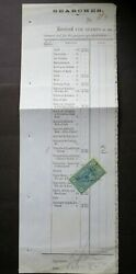 Victoria Early 1876 2/- Blue Stamp Statute On Rare Piece Ce27