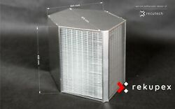 Counterflow Heat Recovery Ventilation Air Exchanger 1000m3 Recuperator Eff. 96