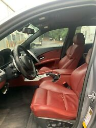 ✅ 04-07 OEM BMW E60 M5 Front Sport Rear Seats PREMIUM RED M5 LEATHER