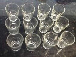 12 Shot Glasses Glass Barware Shots Vodka Tequila 1.5 oz Dozen Doz Lot of $12.99