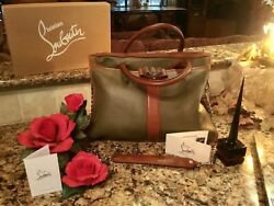 BN Christian Louboutin Sweet Charity Tote Satchel Charm Nail Polish Tags $1695