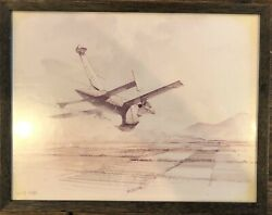 Military Jet Afterburner Flying Missile Country Side Art Artist Robert Watts