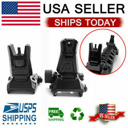 Tactical Low Profile Flip up Metal Sight Folding Iron Sights Front and Rear Set $11.39