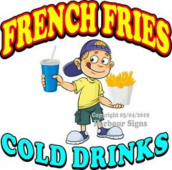 French Fries Decal Choose Your Size B Soda Concession Food Truck Sticker
