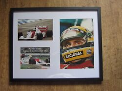 Signed And Framed Ayrton Senna Collection.