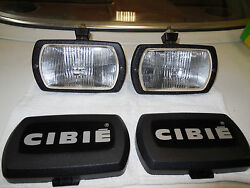 Cibie Type 95i Clear Fog Lamps, Genuine Pair, Complete, New, With Bulbs And Covers