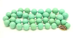 Vintage Large Chinese Turquoise Bead Necklace 141.9 Grams