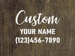 Two 8 Cursive Modern Custom Promote Your Small Business Work Home Car Decals