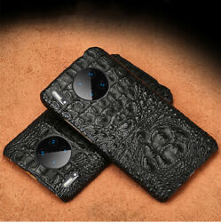 Genuine Real Crocodile Leather Case For Huawei Mate 30 20 P30 3d Alligator Cover