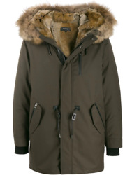 Mackage Moritz Fur-lined Parka With Removable Natural Fur Trim Army Menand039s Coat