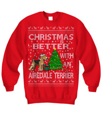 Airedale Terrier Christmas Ugly Sweater Airedale Terrier Christmas Sweater Gift