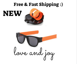 NEW Slap Sunglasses Slappable Bracelet For Men and Women Wristband Fold Shades
