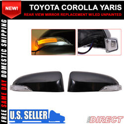 For 14-16 Toyota Corolla Side View Outer Mirror Replacement W CCFL Turn Signal