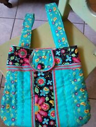 Beautiful handcrafted quilted over the shoulder bag or purse $29.00