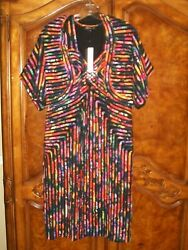 New With Tags Modelia 2pc Dress And Crop Jacket Xl Multi Color