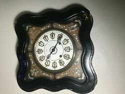 Antique Mother Of Pearl French Wall Clock 8 Day